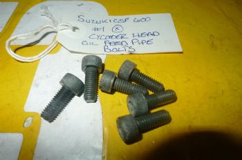 SUZUKI GSF600 BANDIT CYLINDER HEAD OIL FEED PIPE BOLTS #1 (WEB-STOCK)(A=SK)  (CON-D)